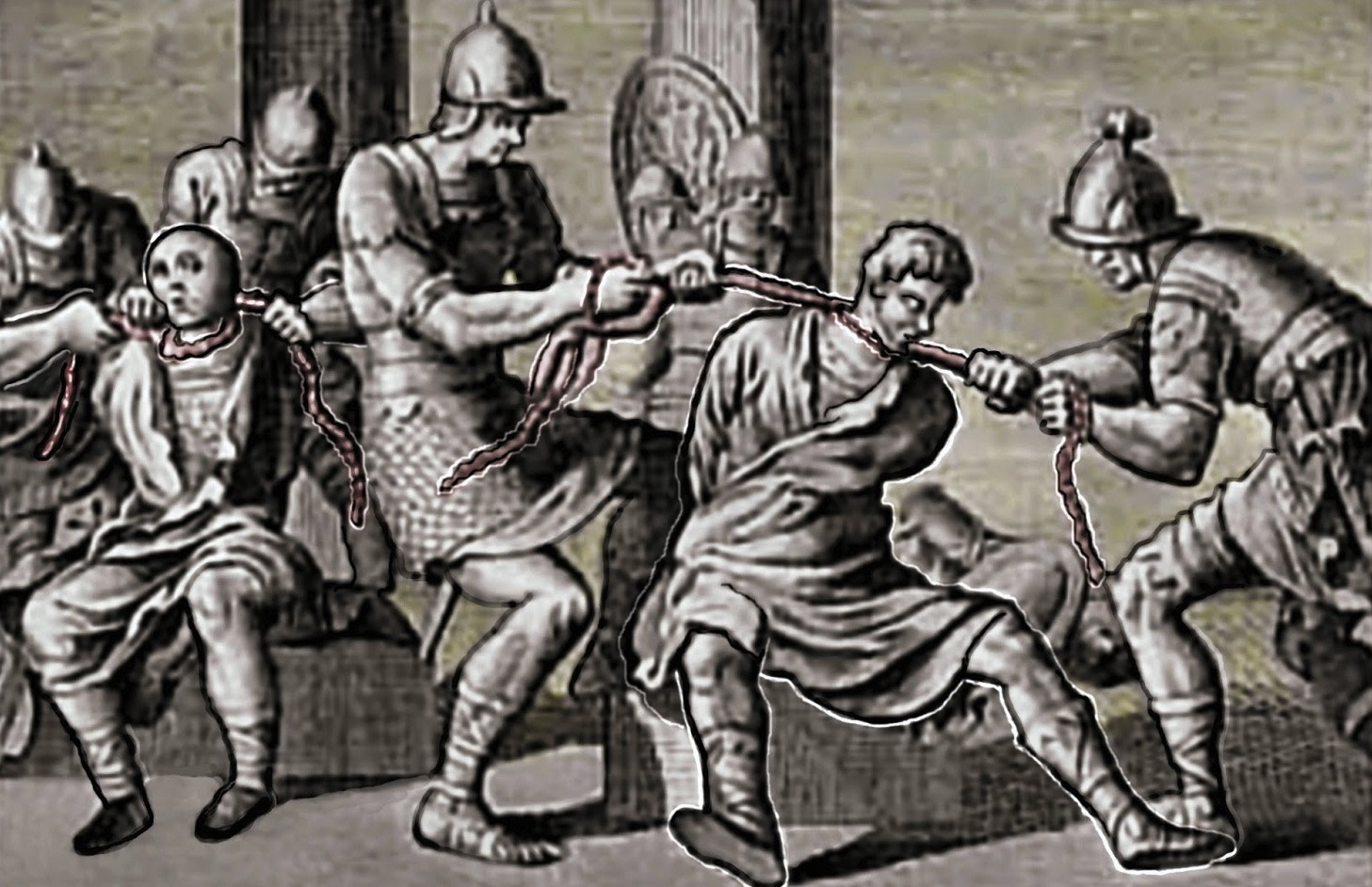 Herod ordered the strangulation of two of his sons, Aristobulus and Alexander, in c. 7 BC