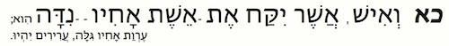 Leviticus 20:21 in Hebrew
