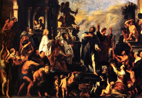 Paul and Barnabas at Lystra on their 1st missionary journey—Jacob Jordaens, 1593-1678