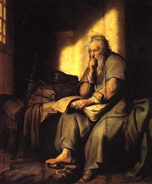 Paul In Prison—Rembrandt, 1627, Stuttgart, Staatsgalerie