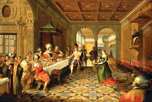 Presenting of John the Baptist's head to King Herod—Frans Francken II (1581-1642)