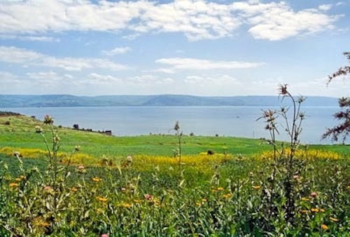 Sea of Galilee from Mount of Beatitudes