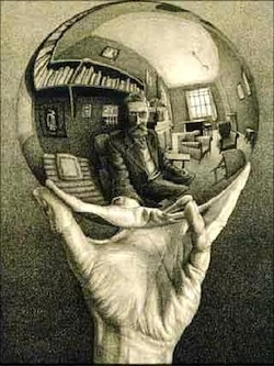 Self-portrait in Spherical Mirror—M.C. Escher,1935