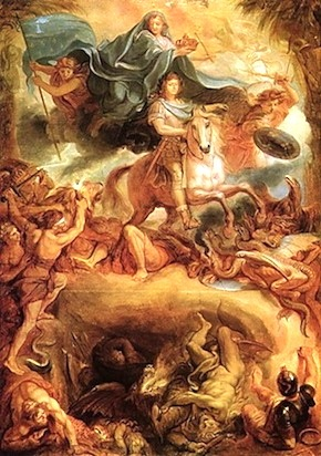Louis XIV on Bucephalus— Le Brun, 1619-1690