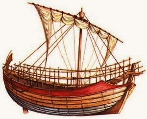 A typical Phoenician trading ship. The Phoenicians were THE sea traders of the ancient world.