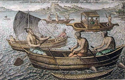 Small Indian vessels used on ancient Malabar Coast