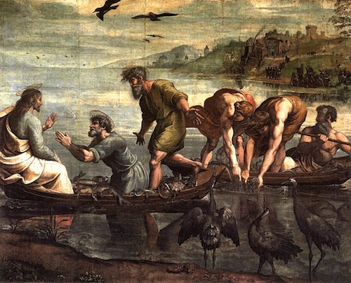 The Draught of Fish—Raphael, 1515