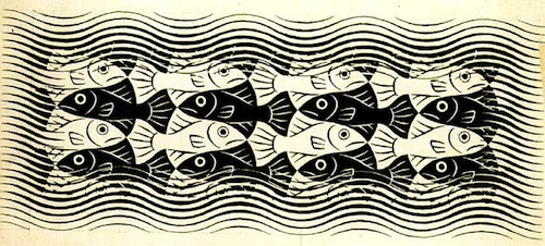 Fishes Mural by M. C. Escher, 1958