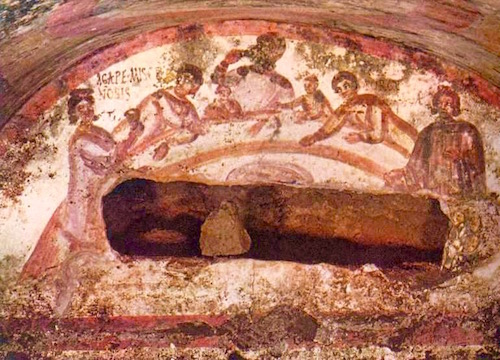 "An Agape (""God's Love"") Love Feast—Catacomb of Marcellinus & Peter, Rome"