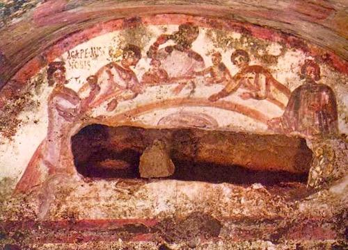 "An Agape (""God's Love"") Love Feast—Catacomb of Marcellinus & Peter, Rome"