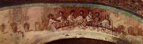 Fractio Panis in Priscilla Catacomb, Rome