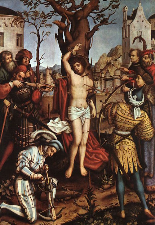 The Elder Martyrdom of St. Sebastian—Hans Holbein c. 1516