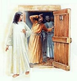 Angel Opening Door