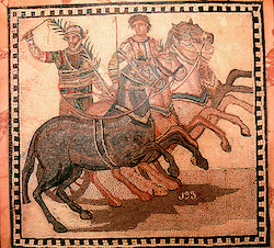 Charioteer with a 4-horse team