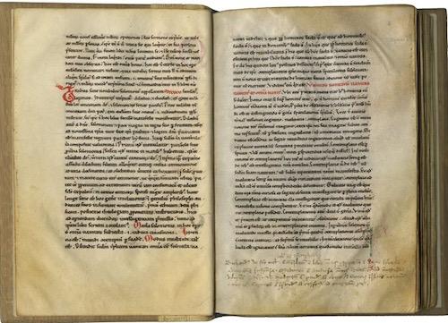 Hugh of St. Victor—Decorated parchment manuscript of Ecclesiastes in Latin. Spain, c. 1175-1200