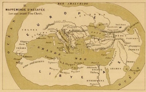 A Map of How Hecataeus of Miletus Saw His World in c. 500 BC