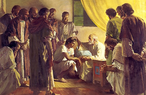 Jacob Blessing His 12 Sons Before He Dies—Harry Anderson