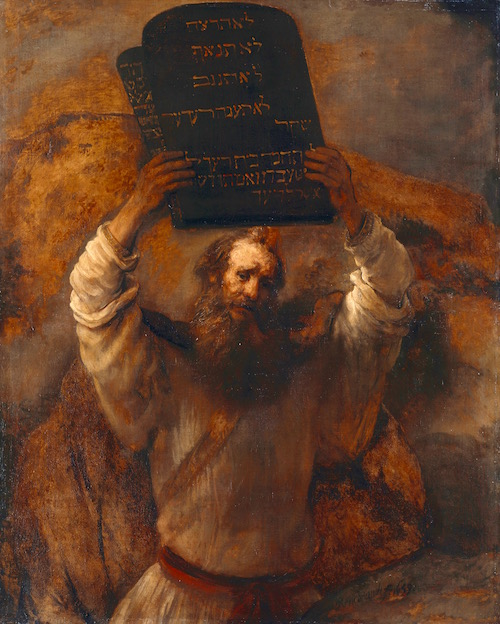 Moses With The Ten Commandments—Rembrandt, 1659