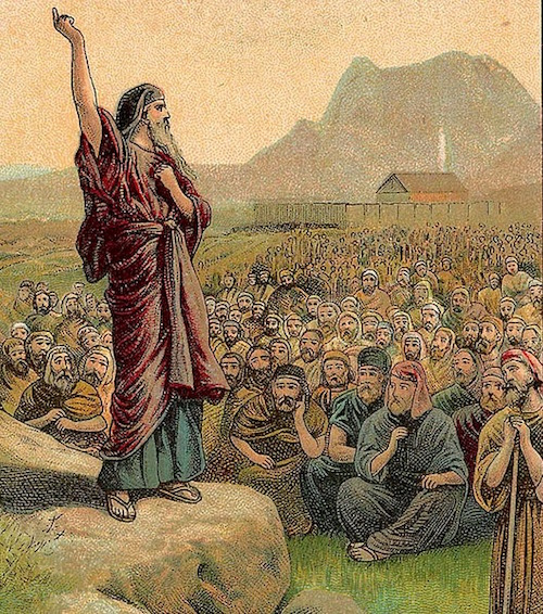 Moses Speaking