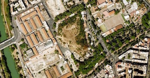 Aerial view of Mt. Testaccio