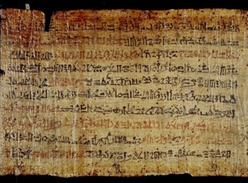 The Ipuwer Papyrus, officially called Papyrus Leiden I 344 recto