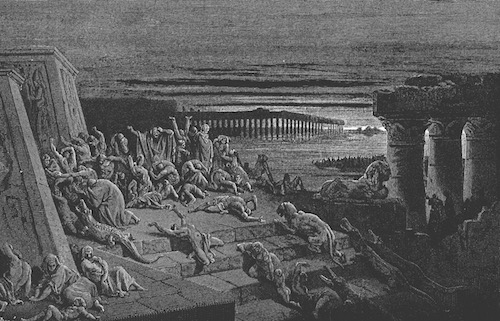 "Plague of Darkness (the ""defeat"" of Egyptian sun god Ra)—Gustave Dore, 1832-1883"