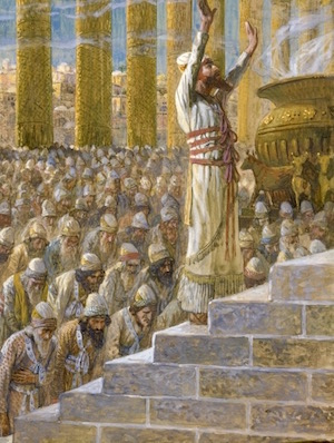Solomon Dedicates The Temple—James Tissot (or an apprentice 1896-1902