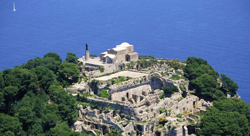 Ruins of Tiberius' castle on Isle of Capri