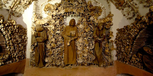 "Some ""residents"" of the Capuchin Crypt on the Via Venato, Rome"