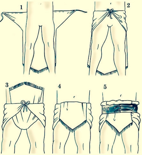 How to fold a Roman undergarment