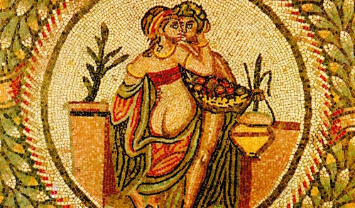 Mosaic from the Villa Romana del Casale in Sicily c. 300's AD