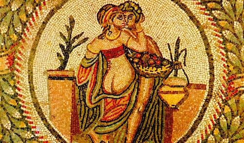 Mosaic from the Villa Romana del Casale in Sicily c. 300's AD