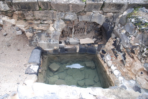 A recently discovered ancient mikveh in Israel