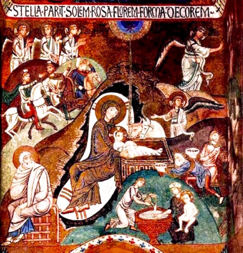 Birth of Christ—Meister der Palastkapelle in Palermo, c.1150