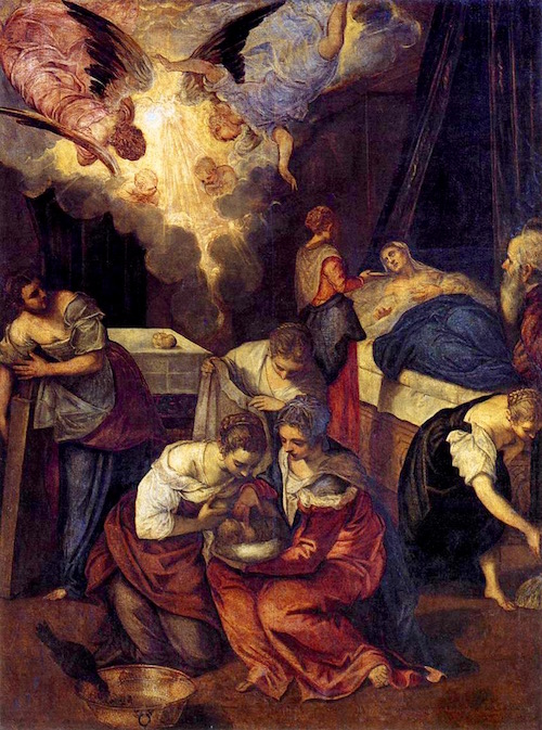The Birth of St. John the Baptist—Jacobo Tintoretto ( 1516-1594)