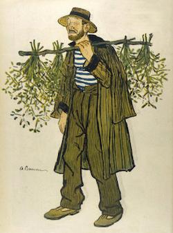 The Mistletoe Seller byAdrien Barrere