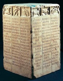 Ancient Roman Farmer's Calendar—Museo della Civita Romana, Rome