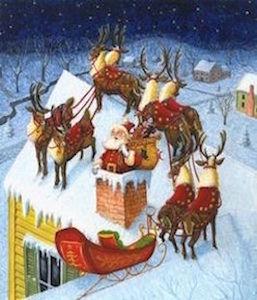 santa-down-chimney