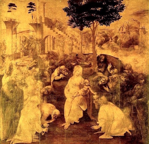 Adoration of the Magi— Leonardo da Vinci, 1481 (unfinished)