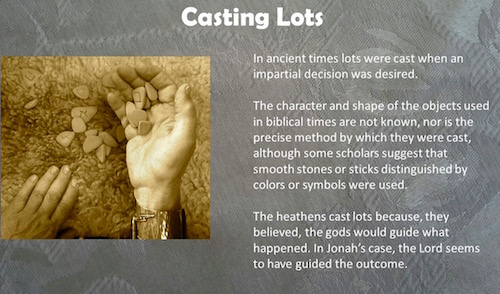 Casting Lots In The Bible